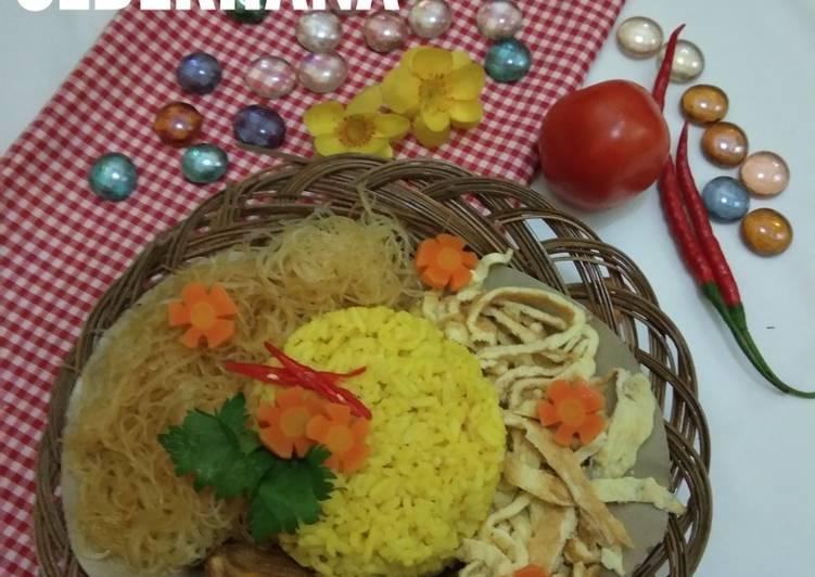 Resep: Nasi kuning sederhana gurih dan wangi sedap