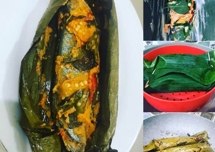 Cara mengolah Pepes ikan kembung pedas lezat