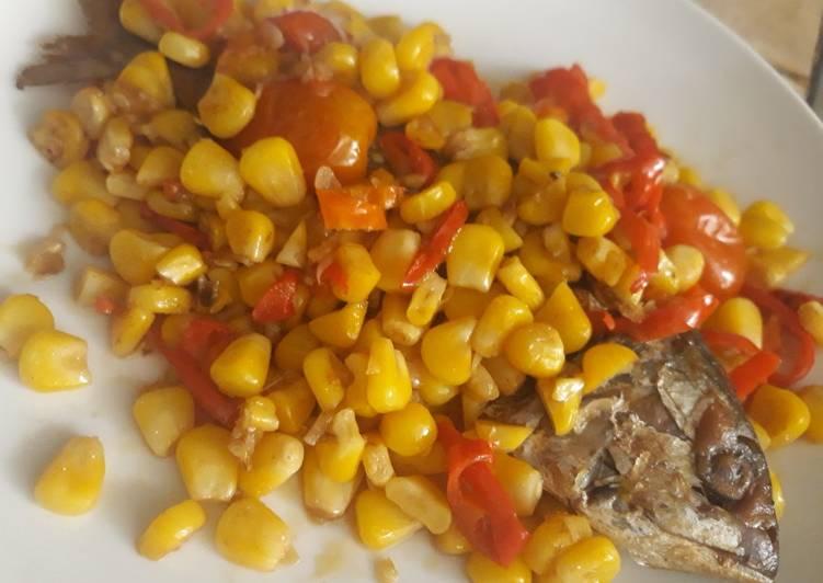 Resep: Tumis peda jagung manis pedasss🌶🌶 yang bikin ketagihan