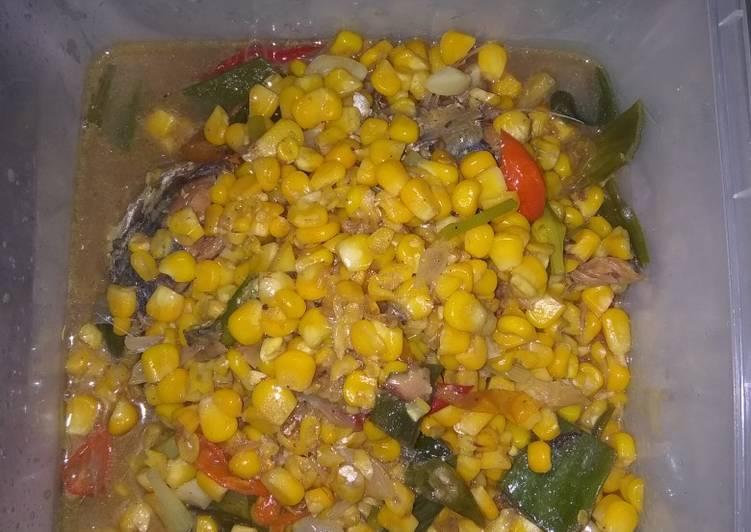 Cara Mudah mengolah Tumis ikan peda jagung manis enak