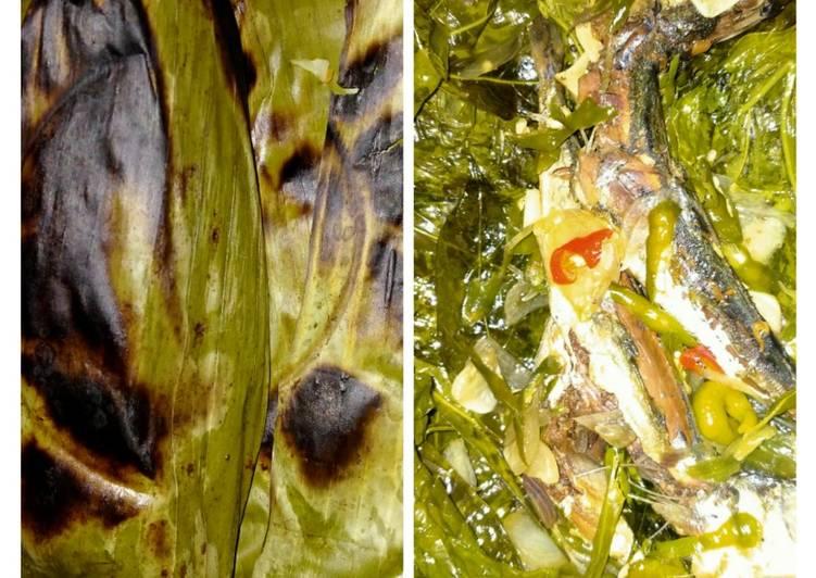 Resep membuat Pepes peda daun singkong ala resto