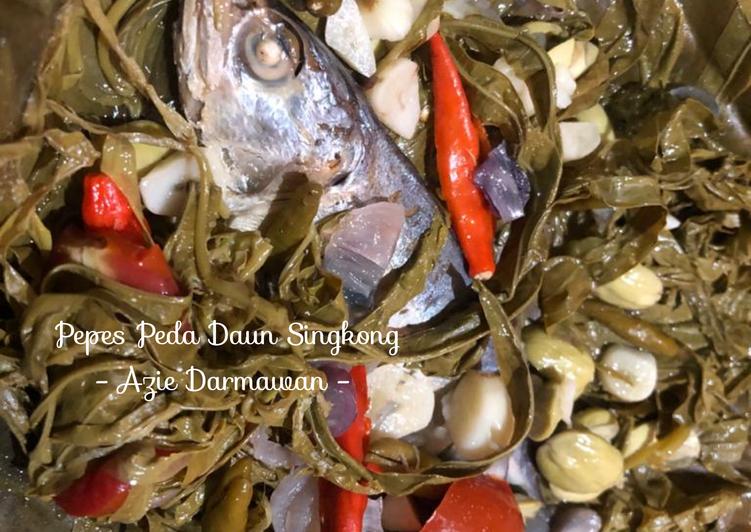 Pepes Peda Daun Singkong