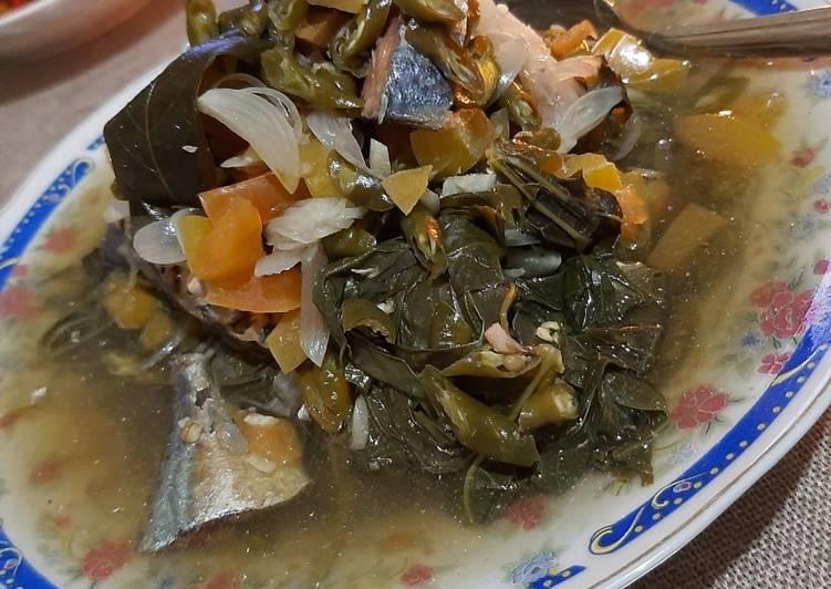 Resep: Daun singkong dan ikan peda kukus yang menggugah selera