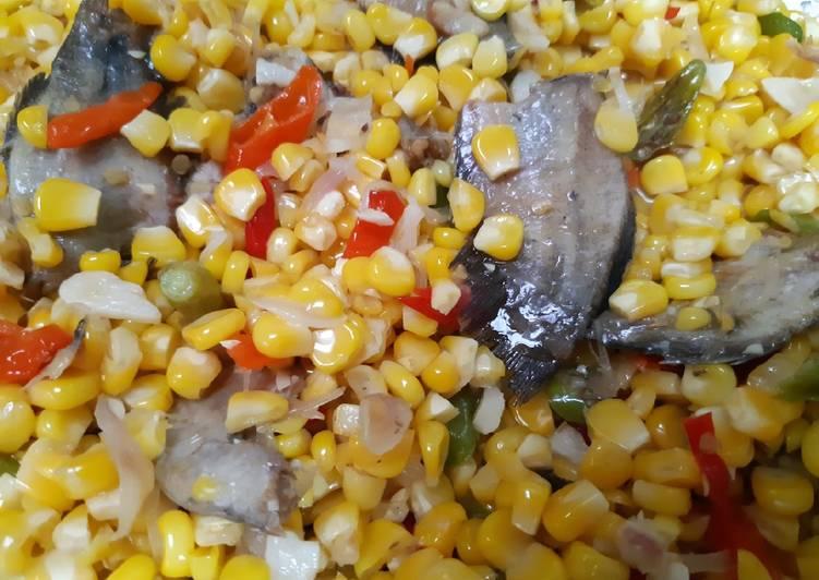 Cara Mudah memasak Tumis jagung manis dan ikan peda lezat