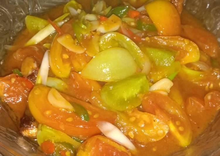 Resep memasak Oseng tomat ikan peda enak