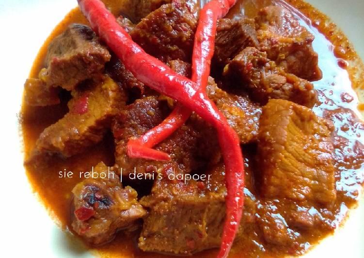 Cara memasak Sie Reuboh /daging rebus /daging masak cuka yang menggugah selera
