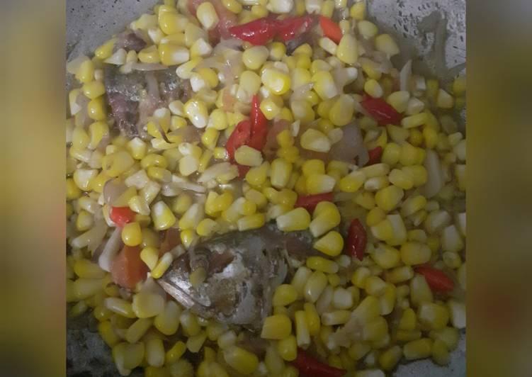 Resep mengolah Ikan asin peda jagung ala resto