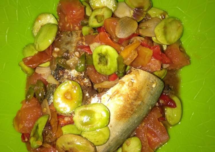 Resep membuat Ikan asin peda bakar tumis pete yang menggugah selera