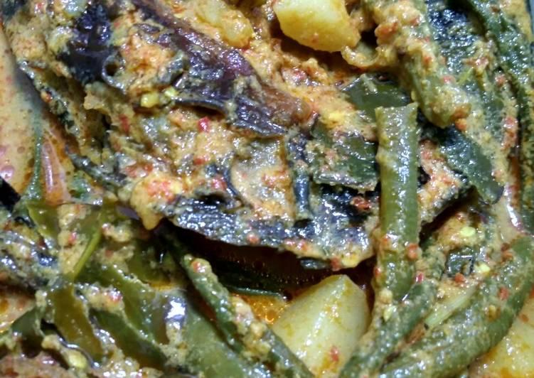 Cara Mudah memasak Gulai ikan lele salai(asap) ala resto