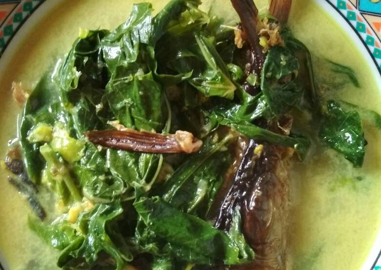 Resep: Gulai hijau salai patin+pucuk ubi