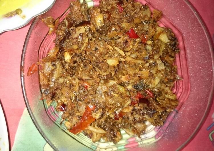 Resep: Rabok jukut salai baung lezat
