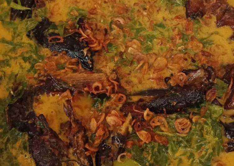 Resep: Gulai pucuk ubi ikan salai enak