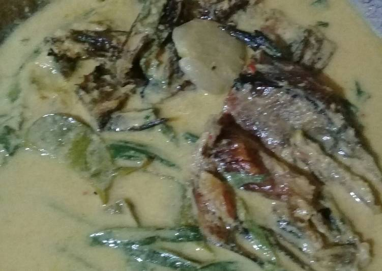 Resep: Gulai pucuk ubi campur jengkol dan ikan salai 🖒🖒🖒👇 enak