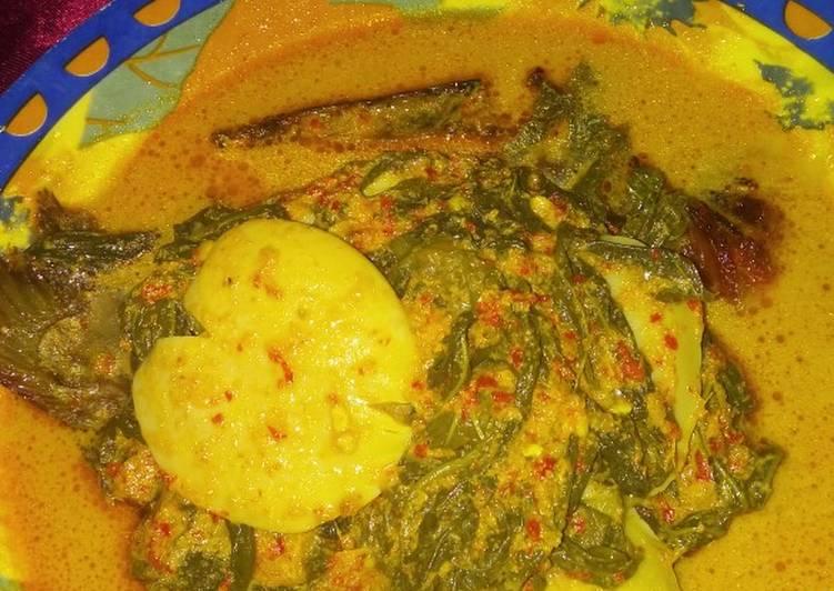 Cara Mudah mengolah Gulai salai pucuk ubi dan jengkol (masakan Riau) istimewa