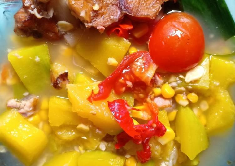 Cara Mudah memasak Sayur Sereh Kunyit Geprek (khas lubuk Linggau) yang bikin ketagihan
