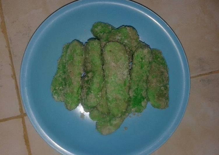 Resep membuat Kue getas atau kemplang ijo ala resto