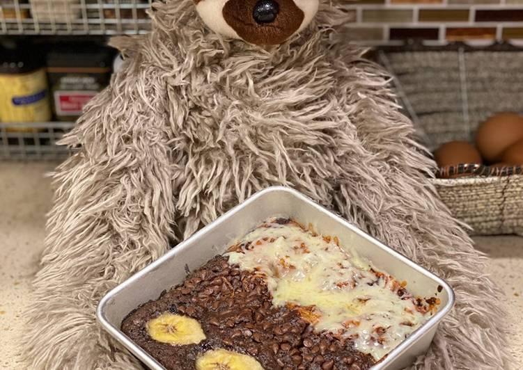 Resep membuat Banana Brownies Lembut Praktis (Tanpa Mixer Satu Telur) ala resto