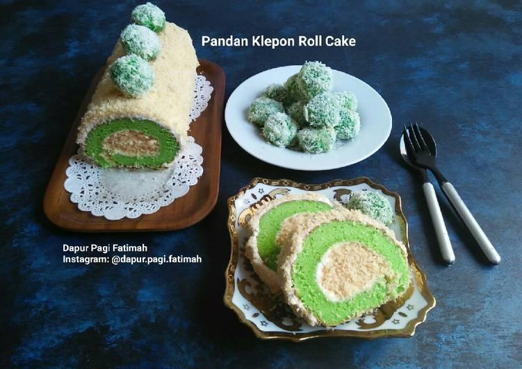Pandan Klepon Roll Cake