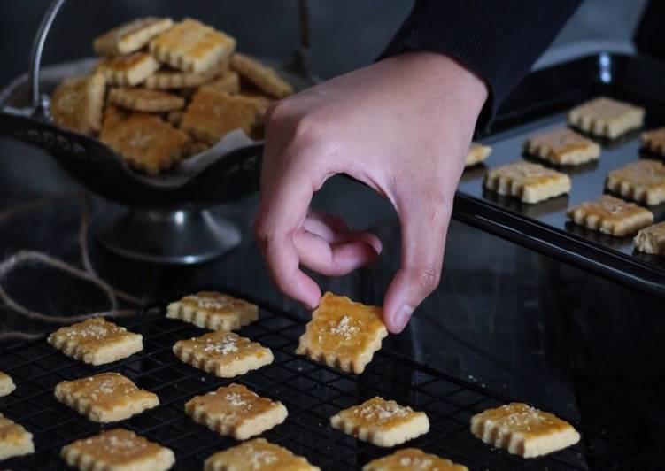 Parmesan Square Cookies