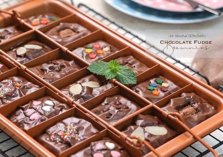 Cara mengolah Chocolate Fudge Brownies (lebih nyoklat + shiny crust) yang bikin ketagihan