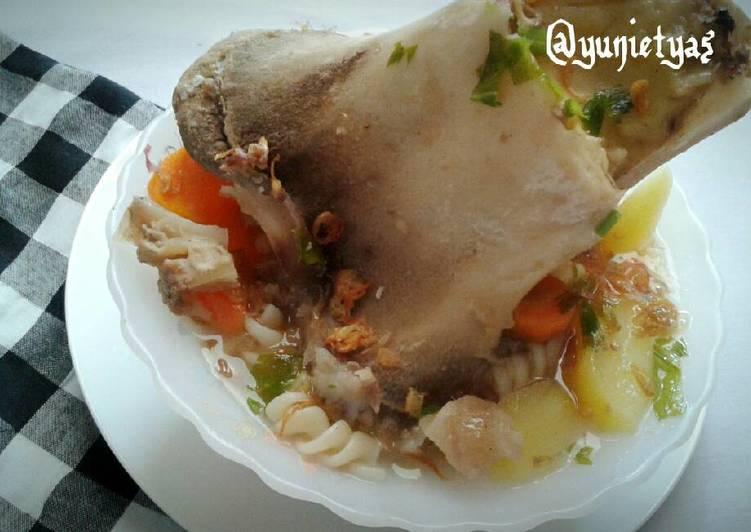 Cara memasak Sup sumsum sapi sedap