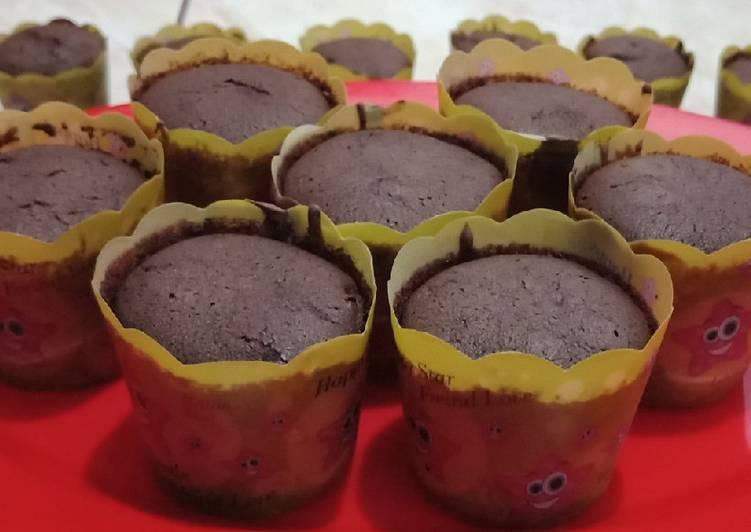 Resep: Cup cake brownis nyoklat banget