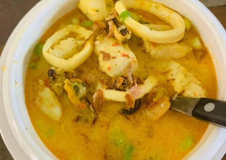 Seafood Laksa (Resep No. 34)