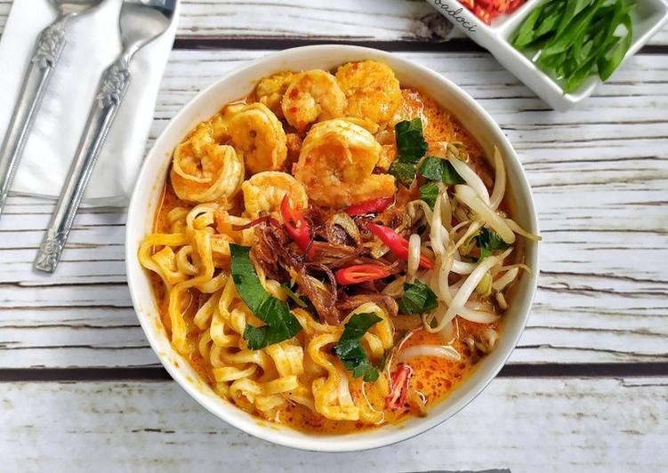 Cara memasak Thai Coconut Noodle Soup (Laksa ala Thailand)