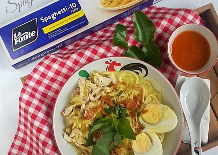 Cara Mudah mengolah 26.3~ Spaghetti kuah Laksa yang menggugah selera