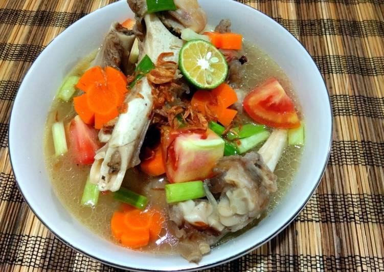 Cara mengolah Sop tulang sumsum kambing enak