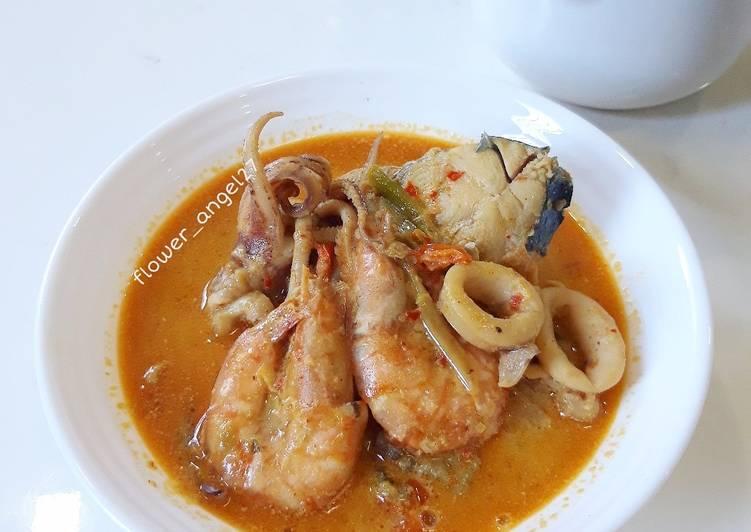 Resep: Laksa seafood (keto friendly) ala resto