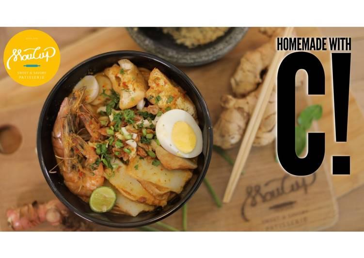 Cara mengolah Homemade Laksa Nyonya Singapore ala resto