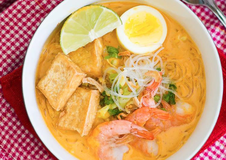 Resep membuat Laksa Curry (Udang) ala resto