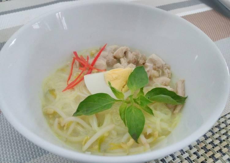 Resep memasak Laksa ayam Jakarta enak