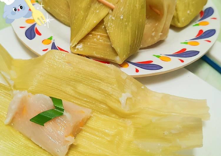 Resep memasak Timphan (lepat) jagung yang menggugah selera