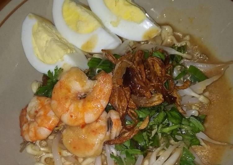 Cara Mudah memasak Mie celor kaldu udang (khas palembang) lezat