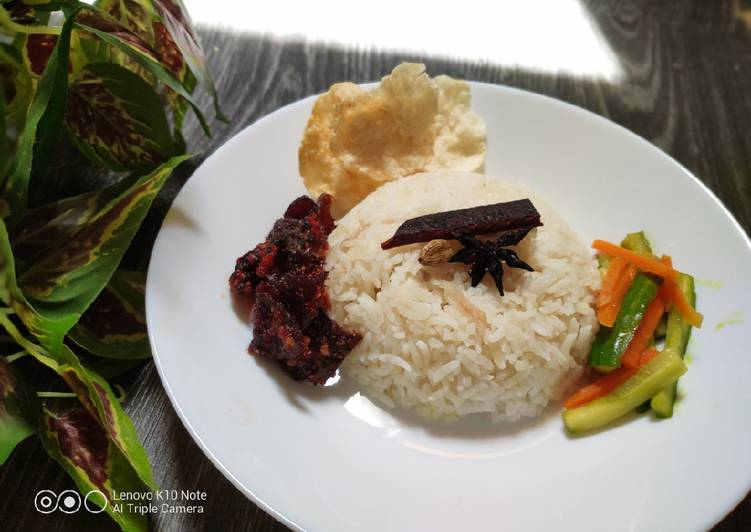 Cara mengolah Nasi Minyak (Malaysian Style) ala resto