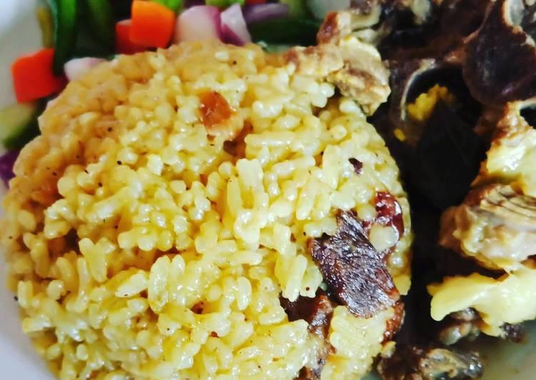 Resep mengolah Nasi Minyak / Nasi Kebuli (masakan rumah sederhana) enak