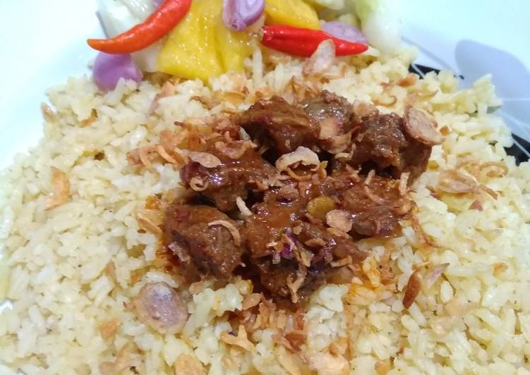 Cara Mudah memasak Nasi Samin Banjar yang bikin ketagihan