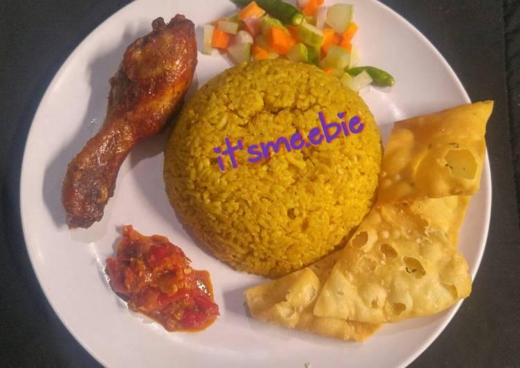 Resep: Nasi Kebuli Ayam bumbu instan istimewa