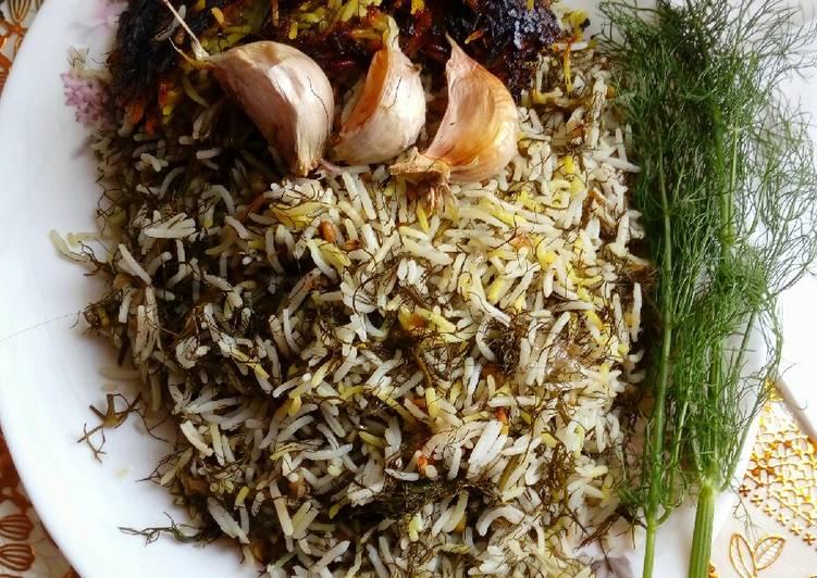 Nasi Daun Adas (Persian Dill Rice style)