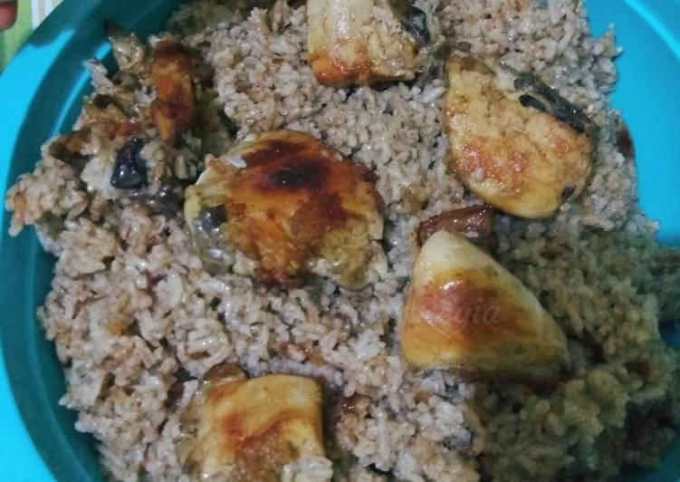 Cara Mudah mengolah Nasi kebuli ayam simple ala saya istimewa