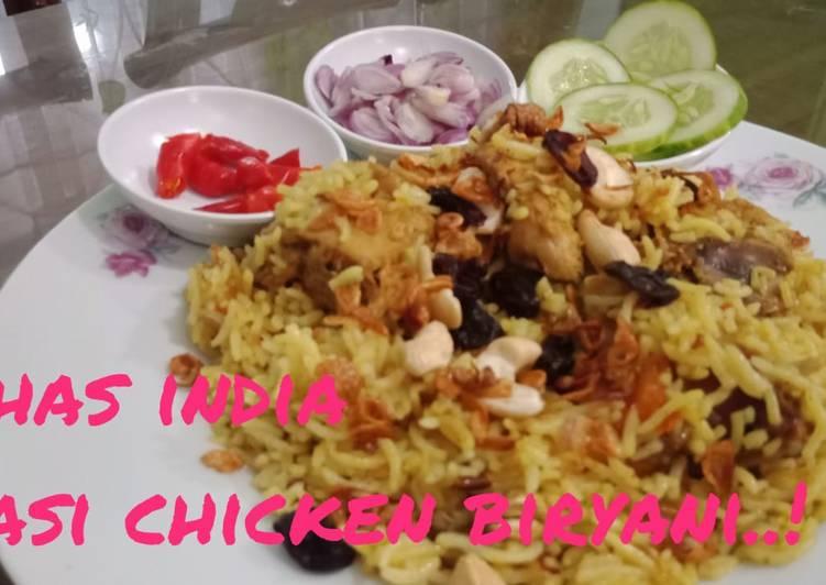 Nasi chicken biryani India