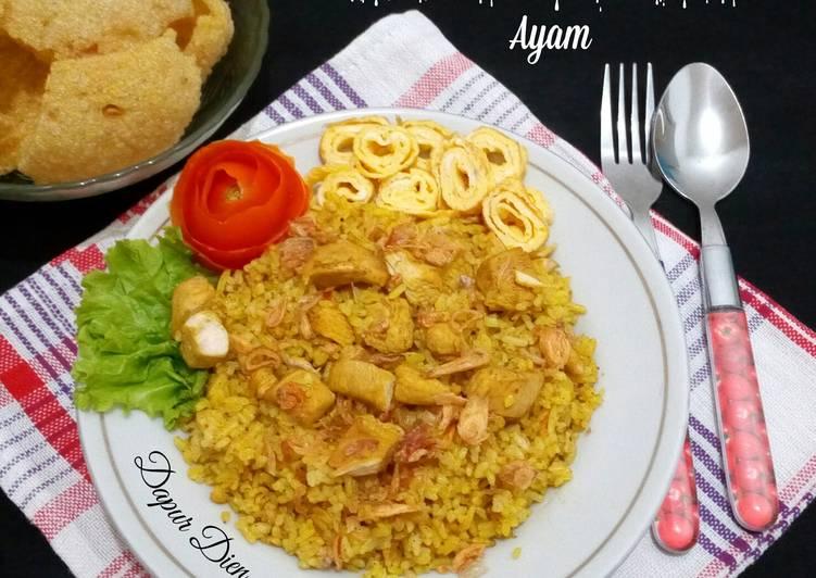 Nasi Kebuli Ayam (masak magicom)