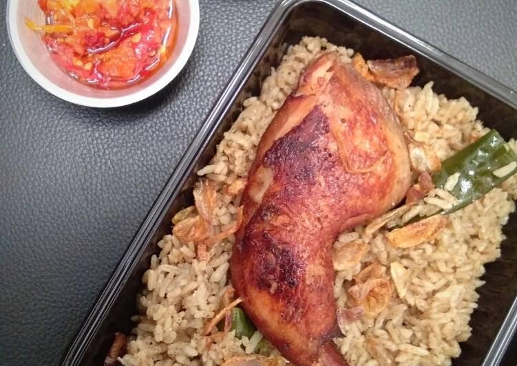 Cara Mudah memasak Nasi kebuli ayam
