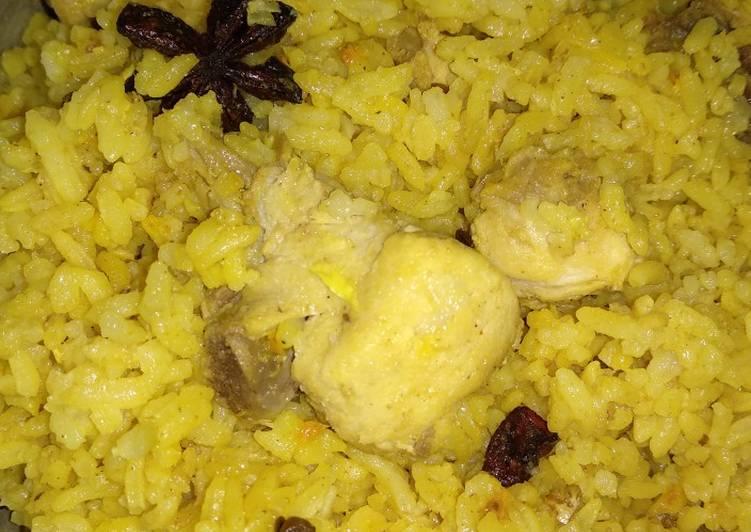 Resep: Nasi kebuli ayam #festivalresepasia#india#dagingayam
