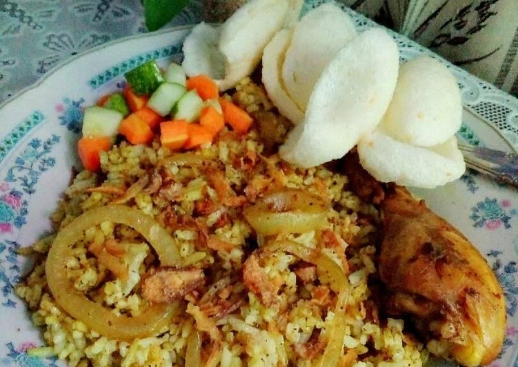 Cara membuat Nasi Kebuli Ayam ala resto
