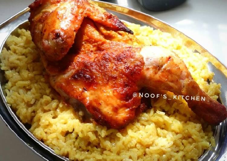 Cara membuat Nasi Mandhi Sederhana dan Ayam panggang rempah Arabia istimewa