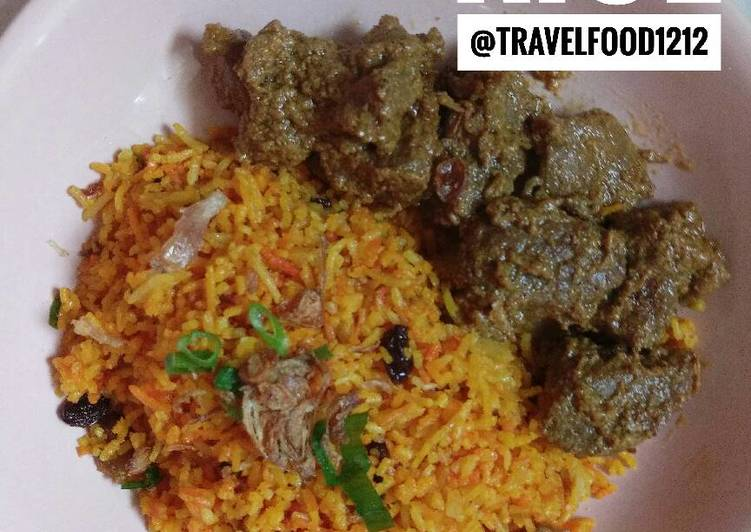 Resep mengolah Nasi briyani / briyani rice istimewa