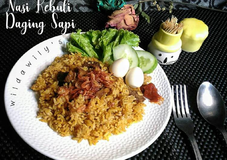 Resep memasak Nasi Kebuli Daging Sapi Magicom ala resto